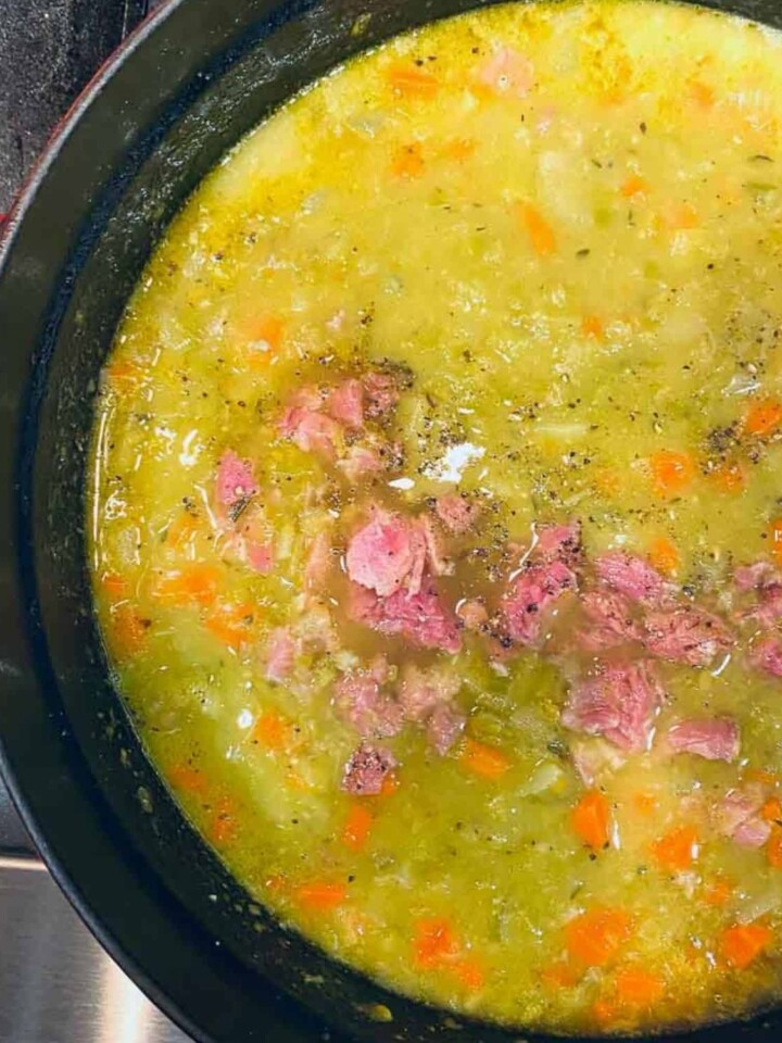 easy split pea soup with ham