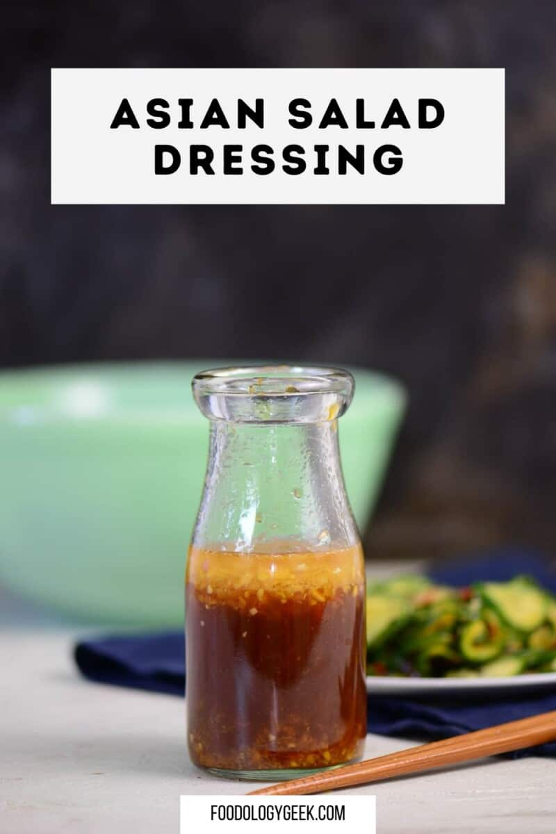 This easy and delicious Asian Salad Dressing Recipe comes together with just a few simple ingredients. You'll love the sesame ginger flavor that can also be used as a marinade or as a dipping sauce.