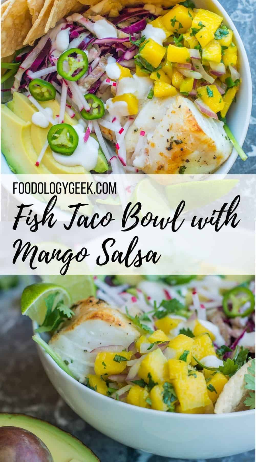 I'm not gonna lie. This Easy Meal Prep Bowl is heaven in your mouth. Tequila Lime Fish Taco Bowl with Mango Salsa – Hello!!! If you want to take meal prep to the next level. Follow Me!