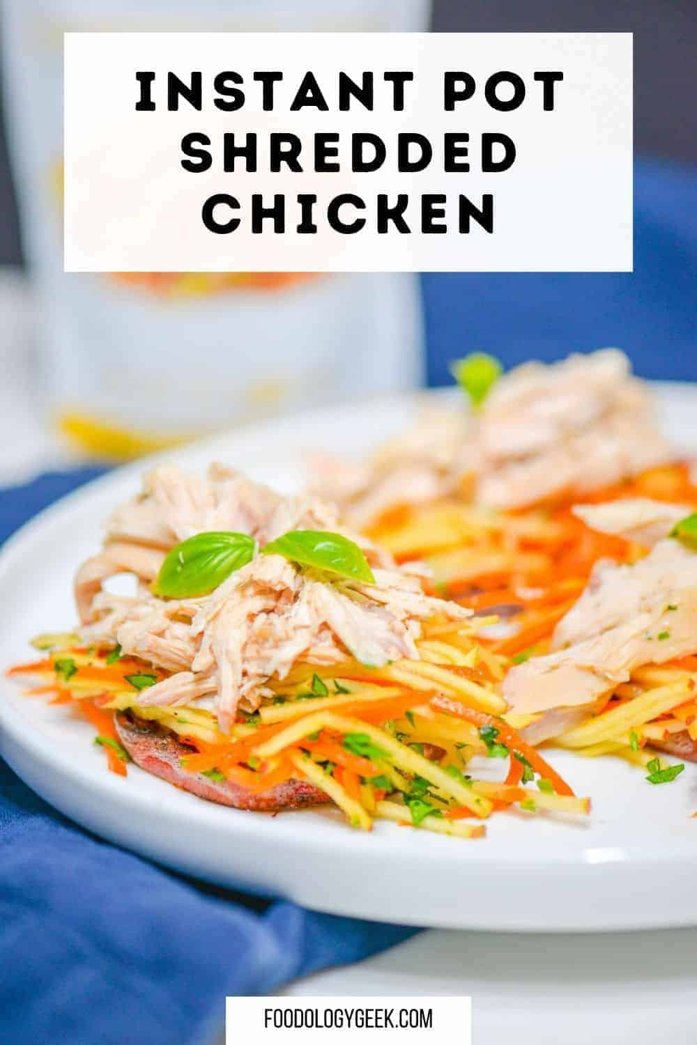This Instant Pot shredded chicken recipe so easy. If you are looking for EASY KETO INSTANT POT RECIPES then this recipe is for you!! #eatcleanlivehappy #kevinsnaturalfoods #kevinsrecipechallenge
