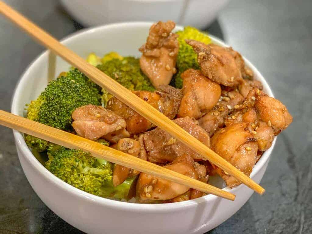 easy asian inspired chicken and broccoli recipe