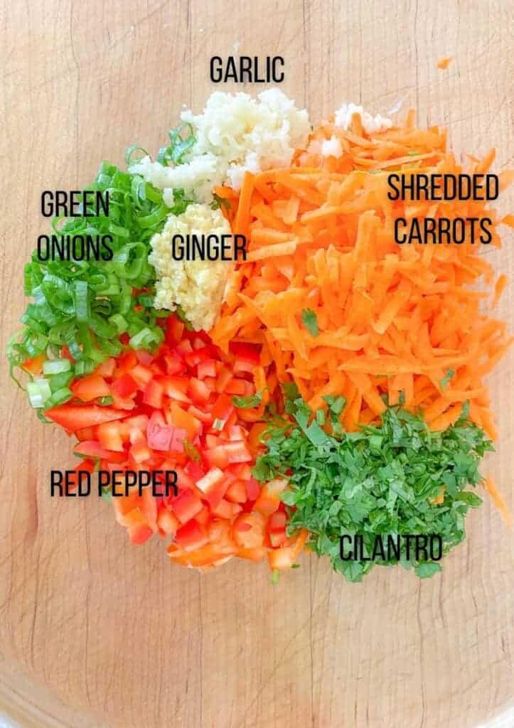 ingredients for asian chicken meatballs