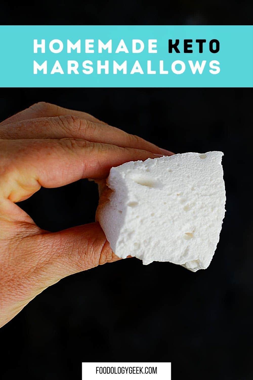 homemade fluffy keto marshmallows