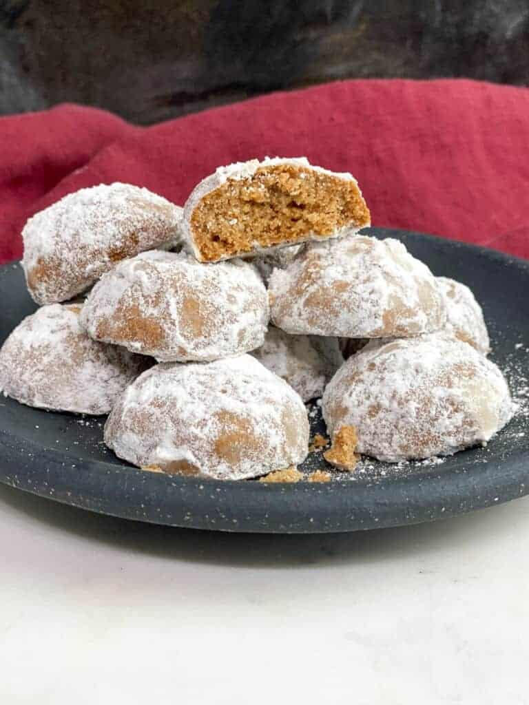 plate of low carb keto Christmas cookies