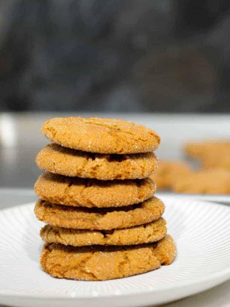 stack of molasses sugar cookies
