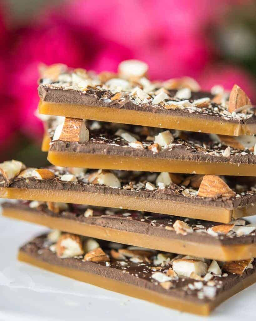classic butter toffee with almonds