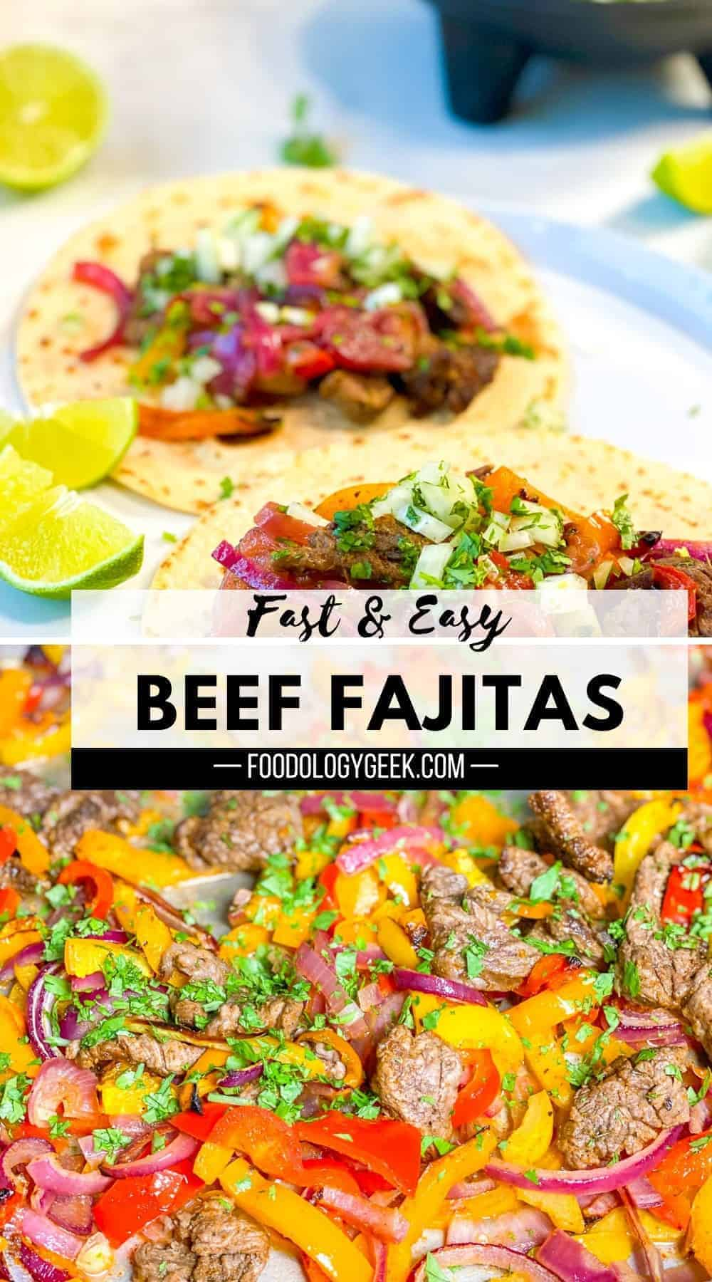 Steak Fajitas are arguably one of the best fast and easy dinner recipes. High protein, full of veggies, and tons of flavor, this recipe is sure to make everyone happy. Only 5 ingredients and 10 minutes of prep time.