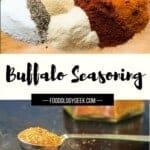 homemade buffalo seasoning blend with ingredients seperated out