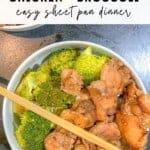 chicken and broccoli stir fry - sheet pan dinner