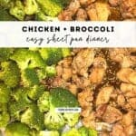 chicken and broccoli sheet pan dinner