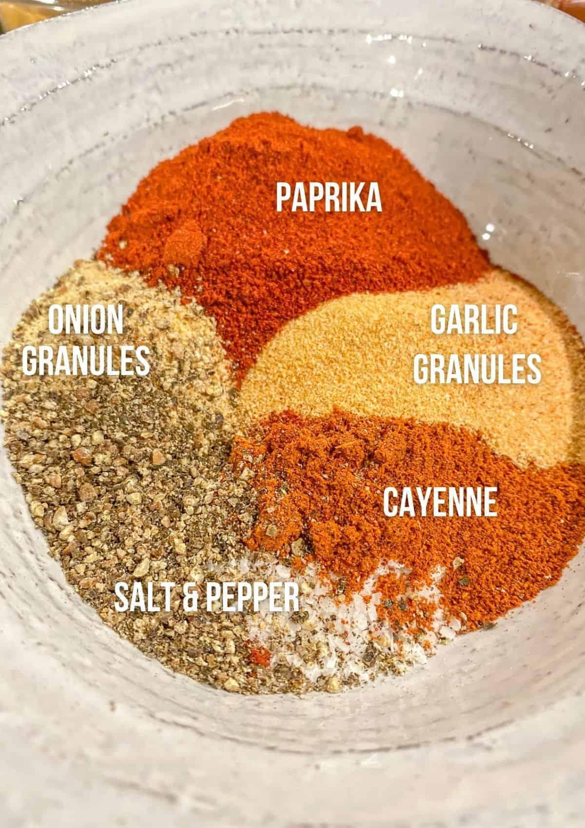 ingredients for buffalo seasoning mix