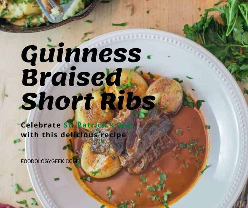 Tender, perfectly cooked braised short ribs. Full of Guinness flavor. This recipe is so easy and so flavorful.