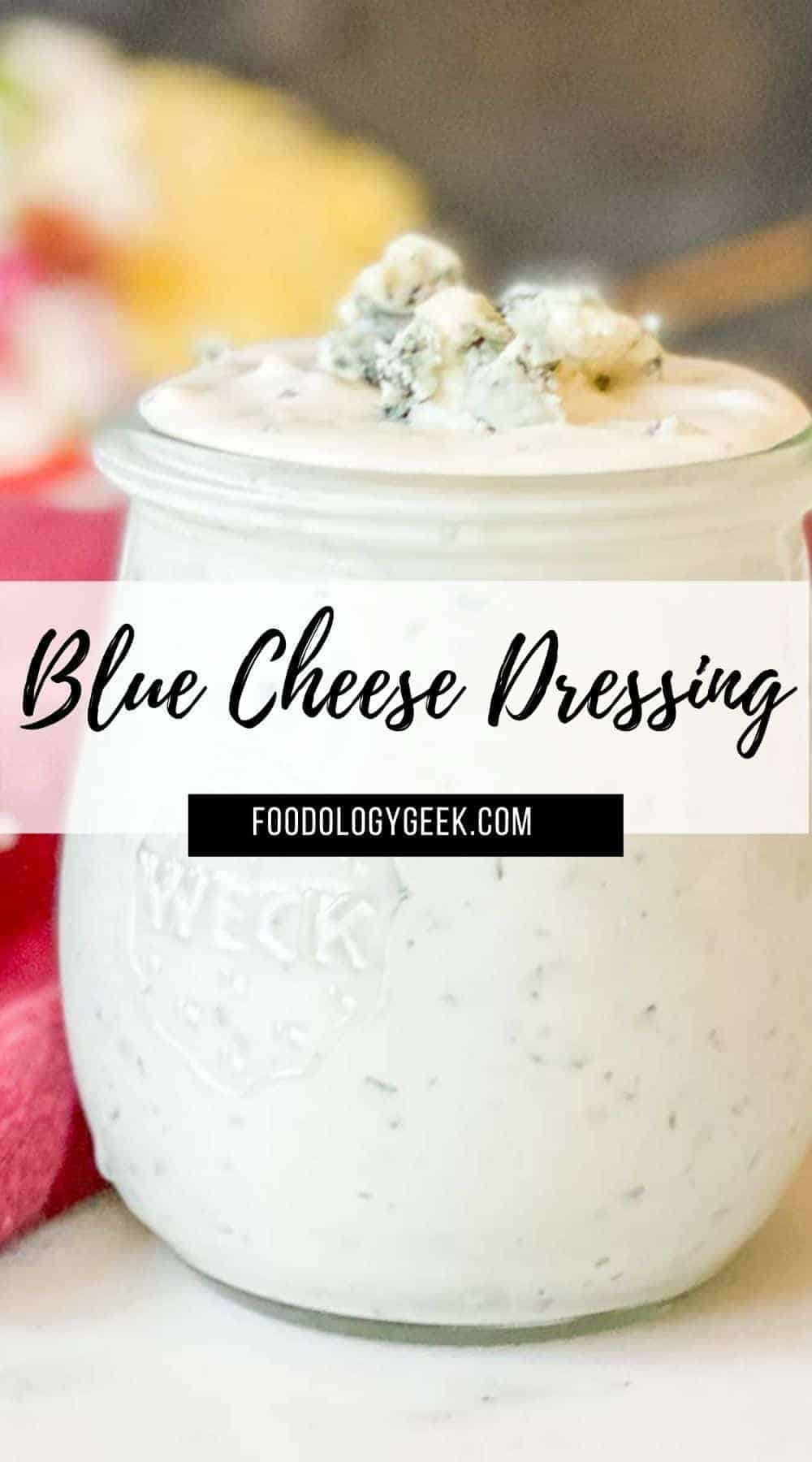 This the best blue cheese dressing! Homemade is way better than any store-bought dressing. It's super easy to make and tastes delicious on everything from a Classic Wedge Salad to Buffalo Wings.