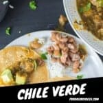 This Spicy 🌶Chile Verde Recipe is out of this world. Make this easy recipe with chicken or with pork shoulder. The chile Verde sauce is good on everything.