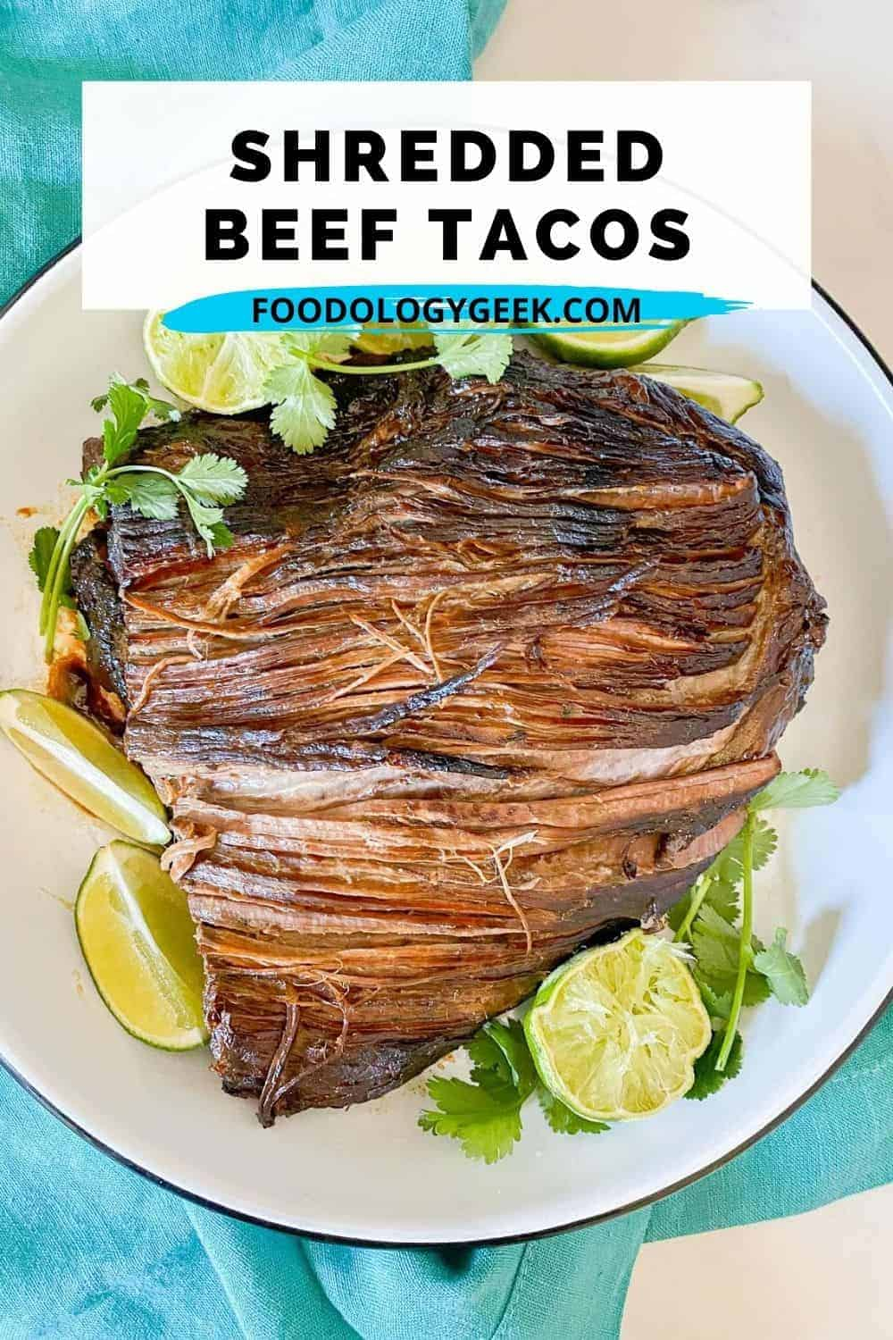 The easy slow-cooked Mexican beef recipe makes the perfect beef pulled tacos aka known as brisket tacos. Every time I make this recipe for quests they want the recipe.