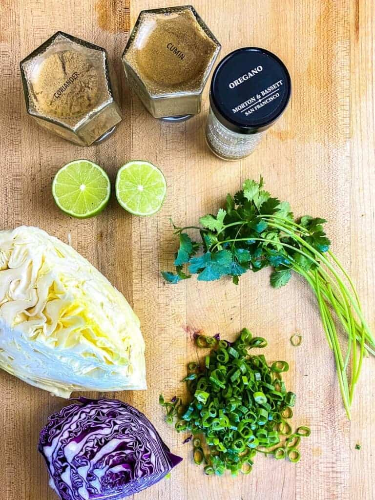 Ingredients for taco slaw