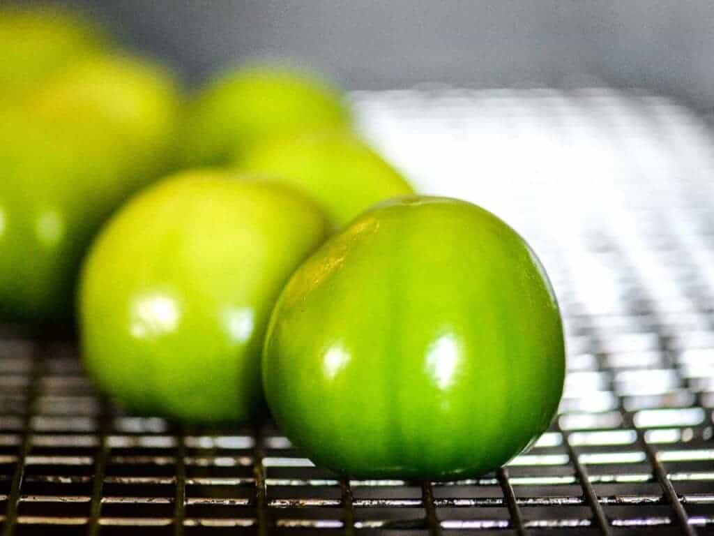 hot to peel tomatillos for making chile verde sauce