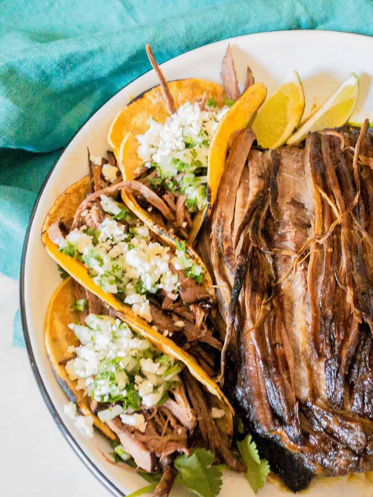 the most amazing brisket tacos