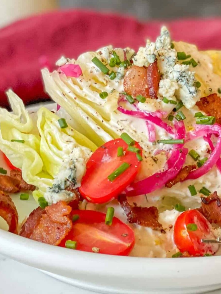 classic blue cheese wedge salad with bacon
