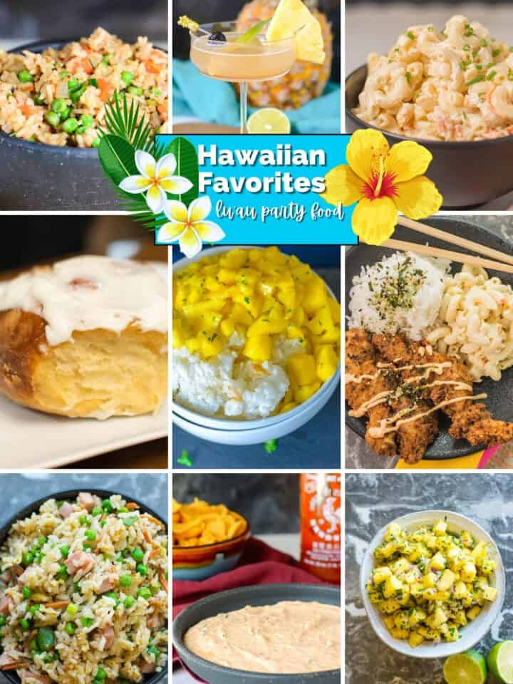featured image for a Hawaiian Party Food post