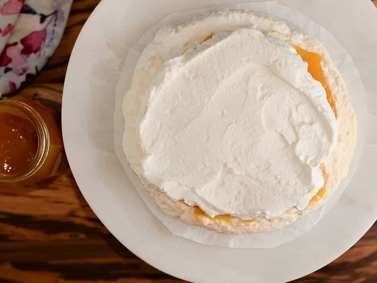 add a layer of whipped cream