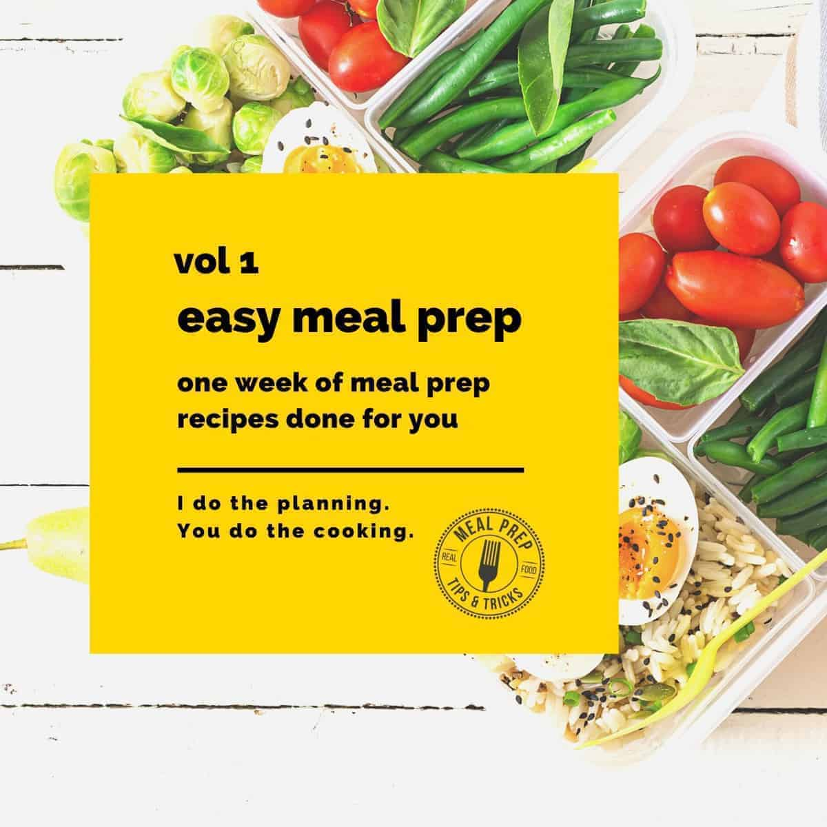 easy meal prep plan vol 1 cover image