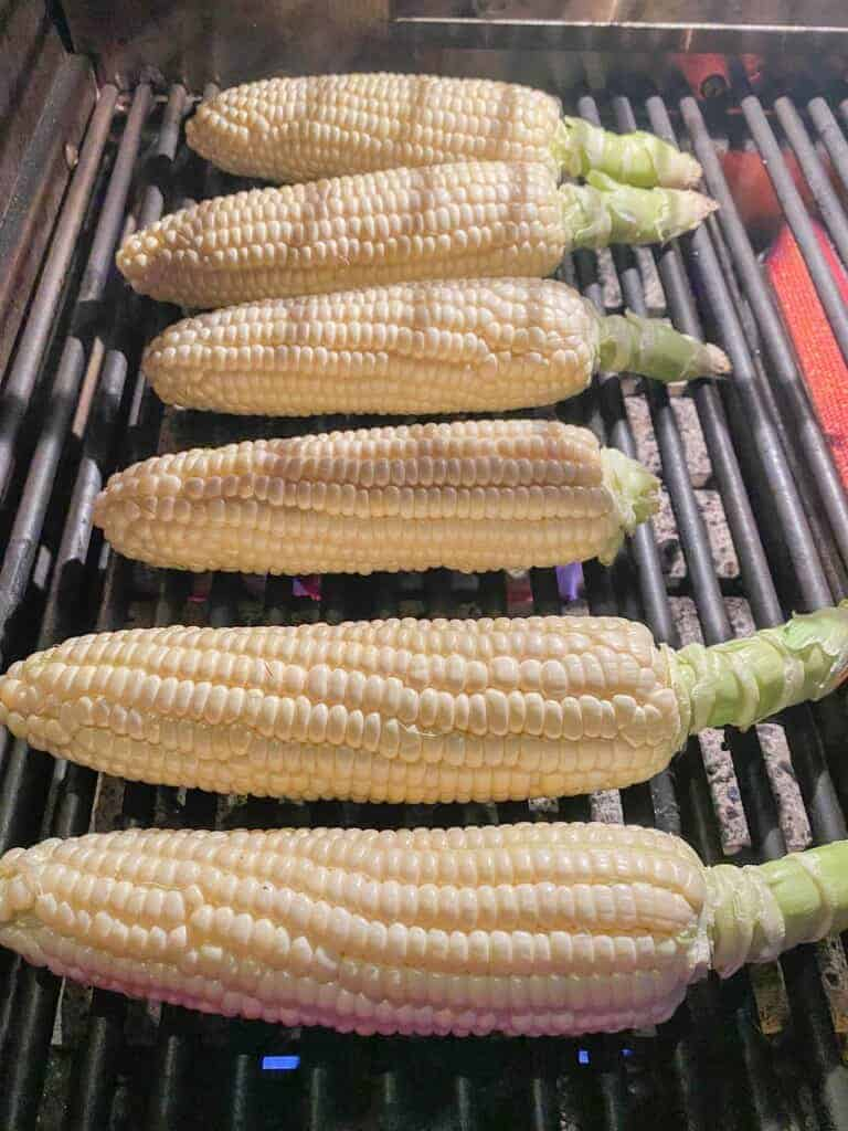 corn on the cob just set on and hot grill