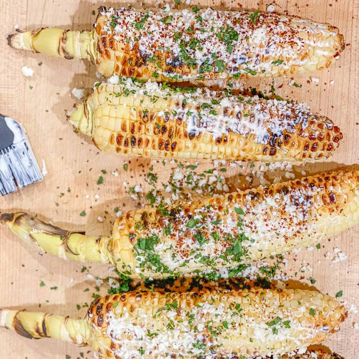 Mexican Street Corn with all the toppings