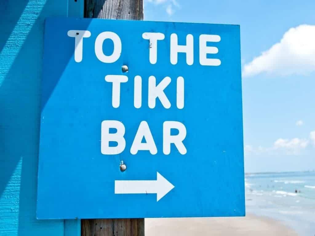 blue tiki bar sign
