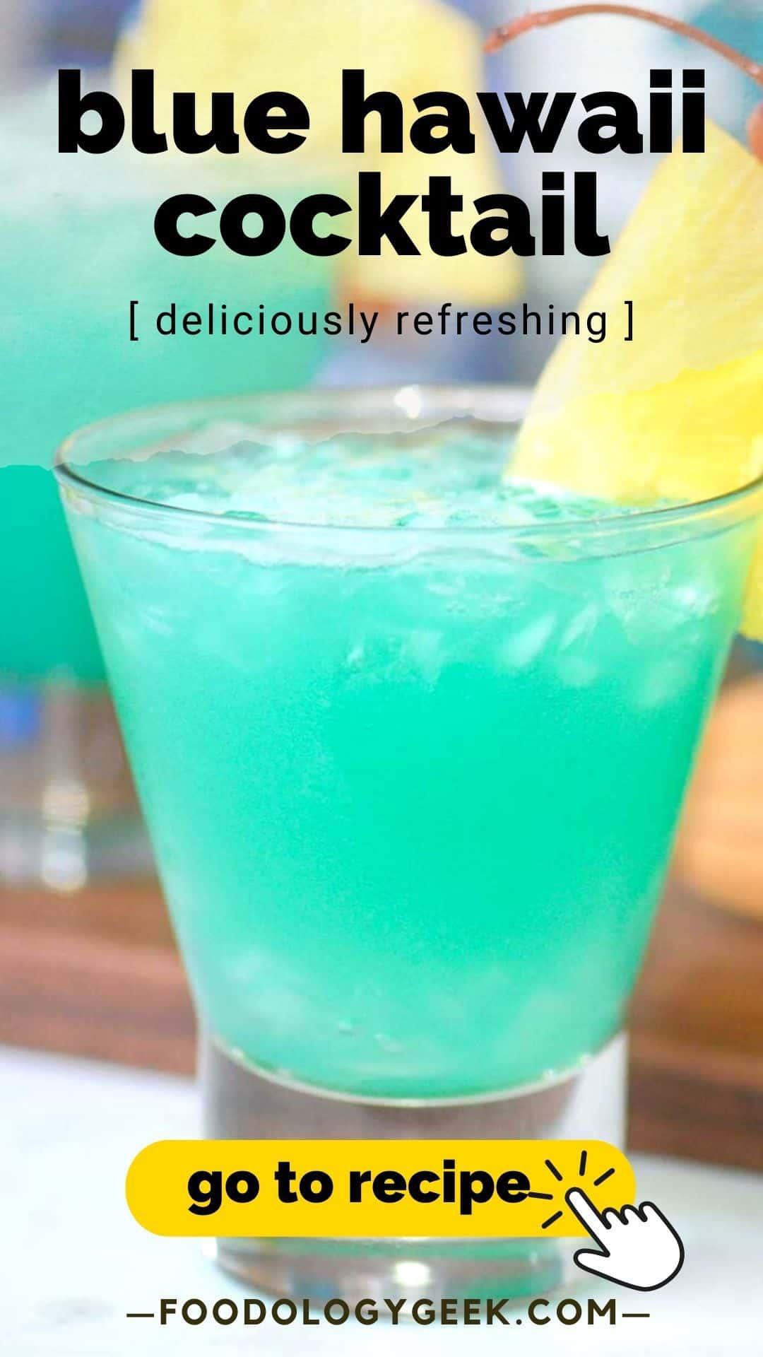 blue hawaii. cocktail pinterest image