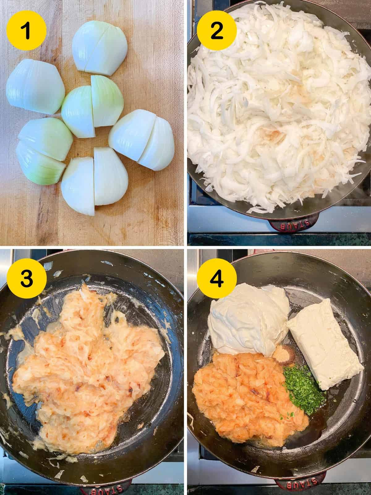 ingredients that go into french onion dip