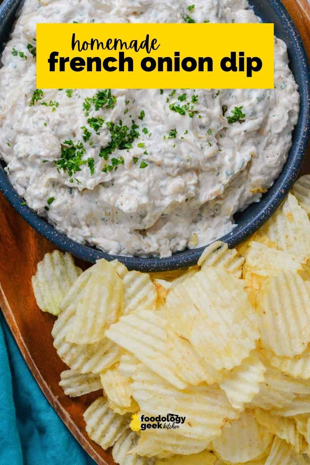 homemade french onion dip on pinterest