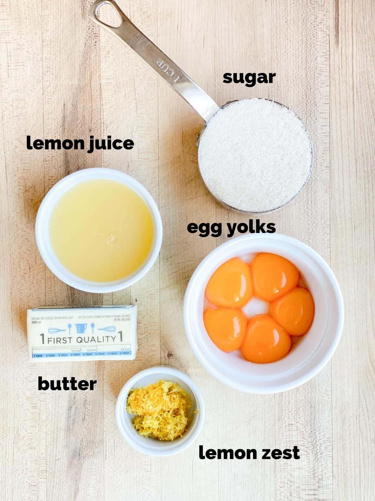 ingredients needed for lemon curd