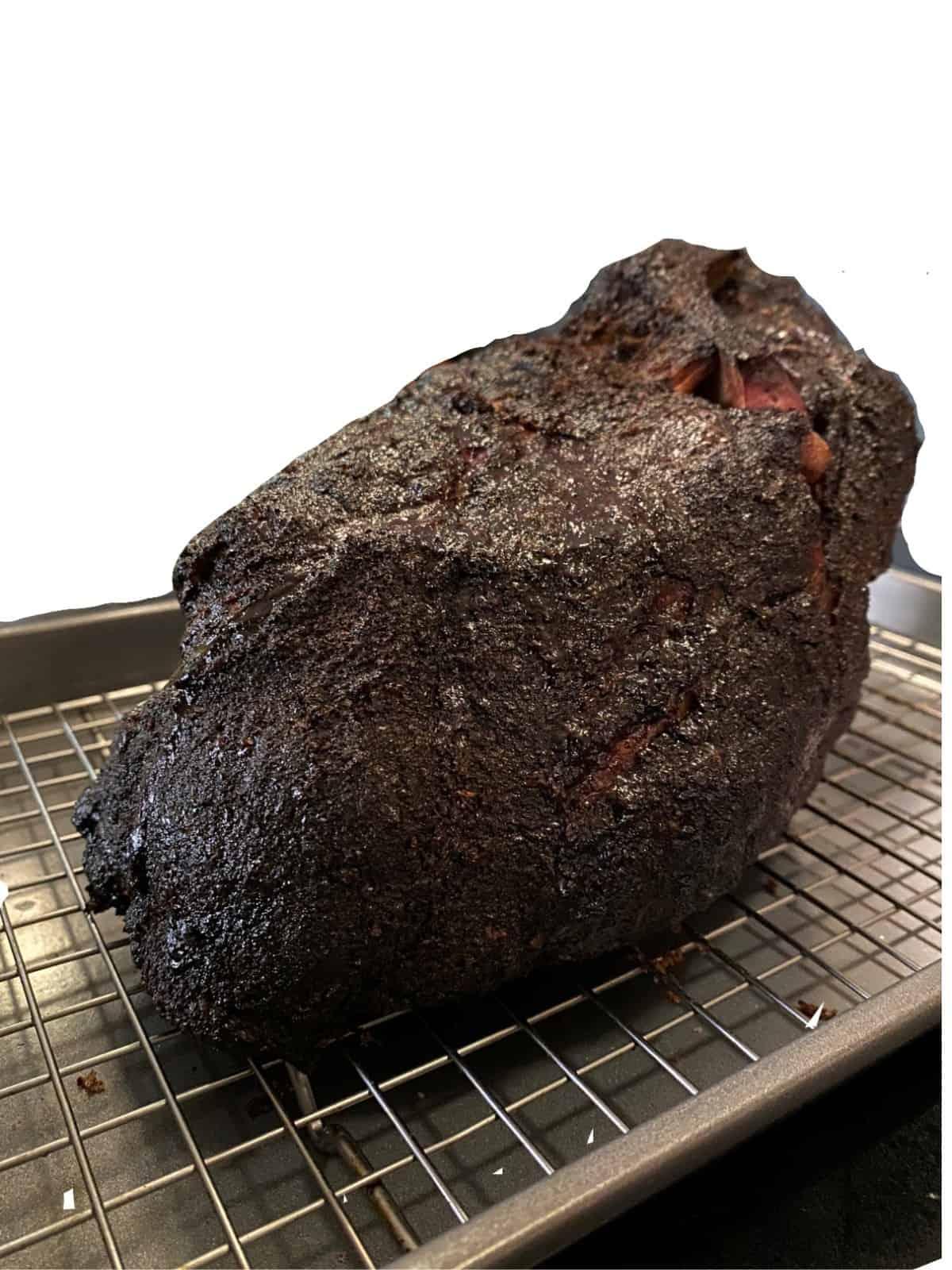 smoked pork butt resting
