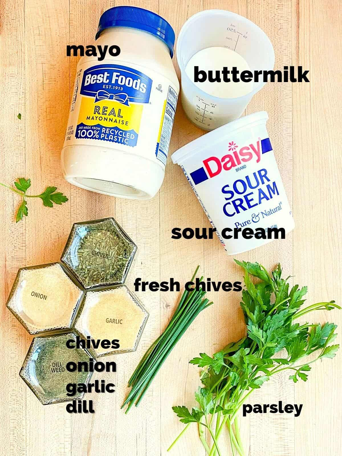 ingredients that go into ranch
