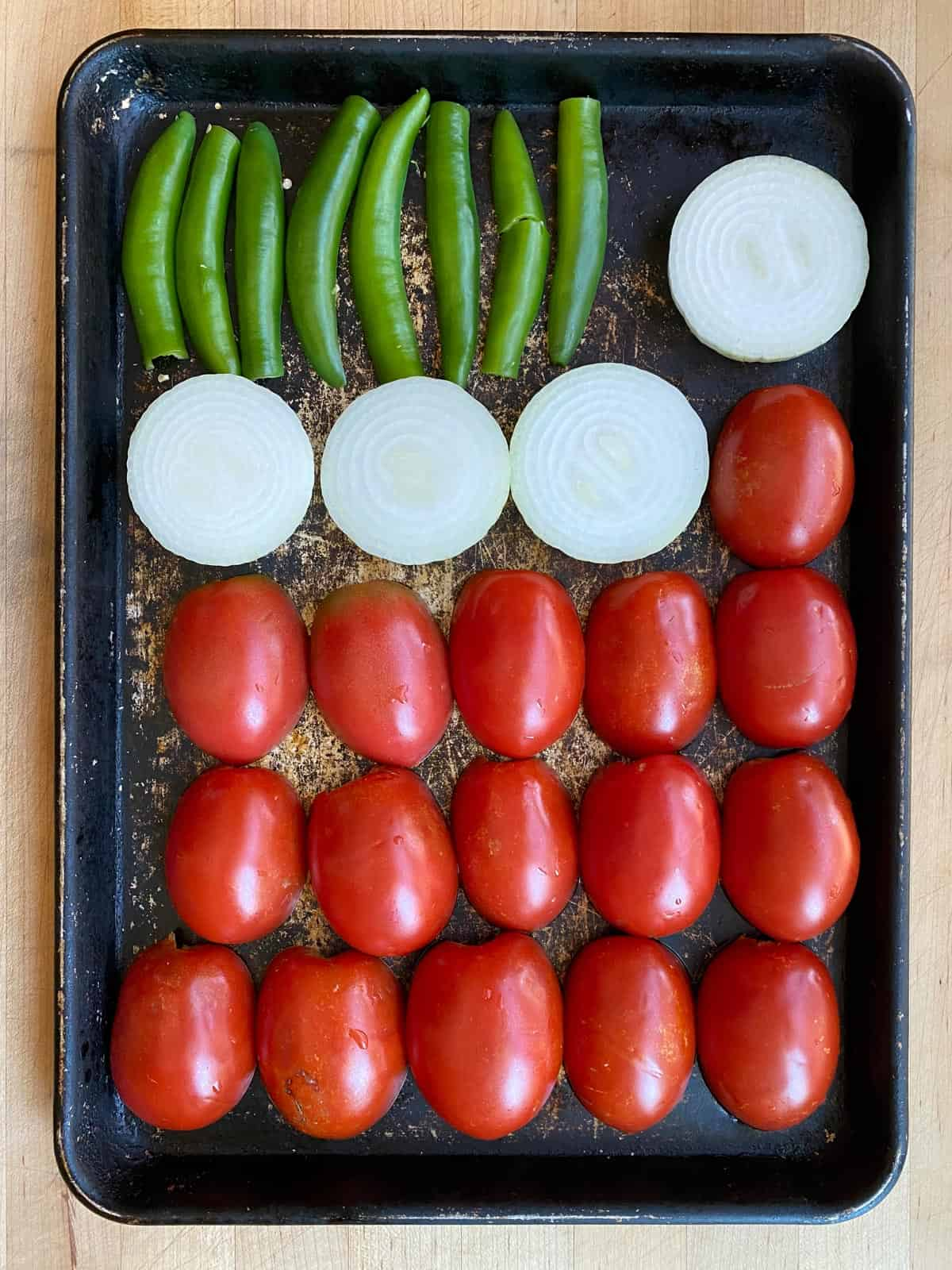 ingredients for roasted salsa