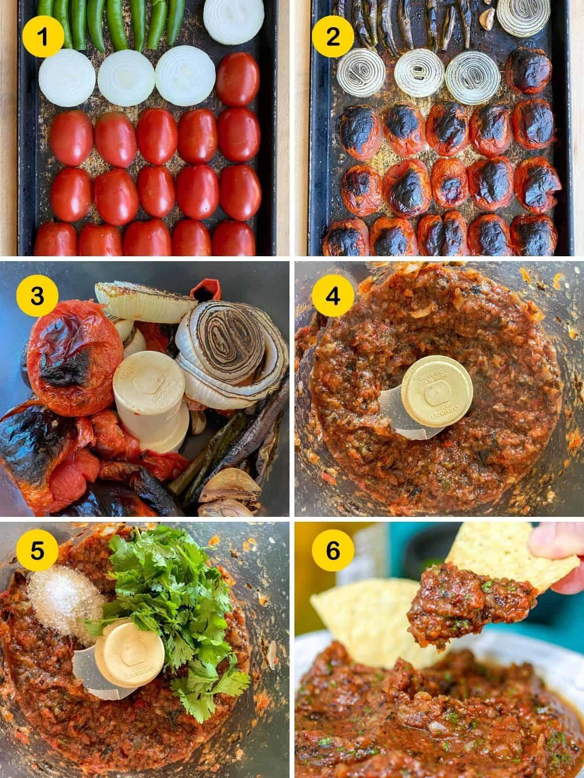 steps to make roasted salsa
