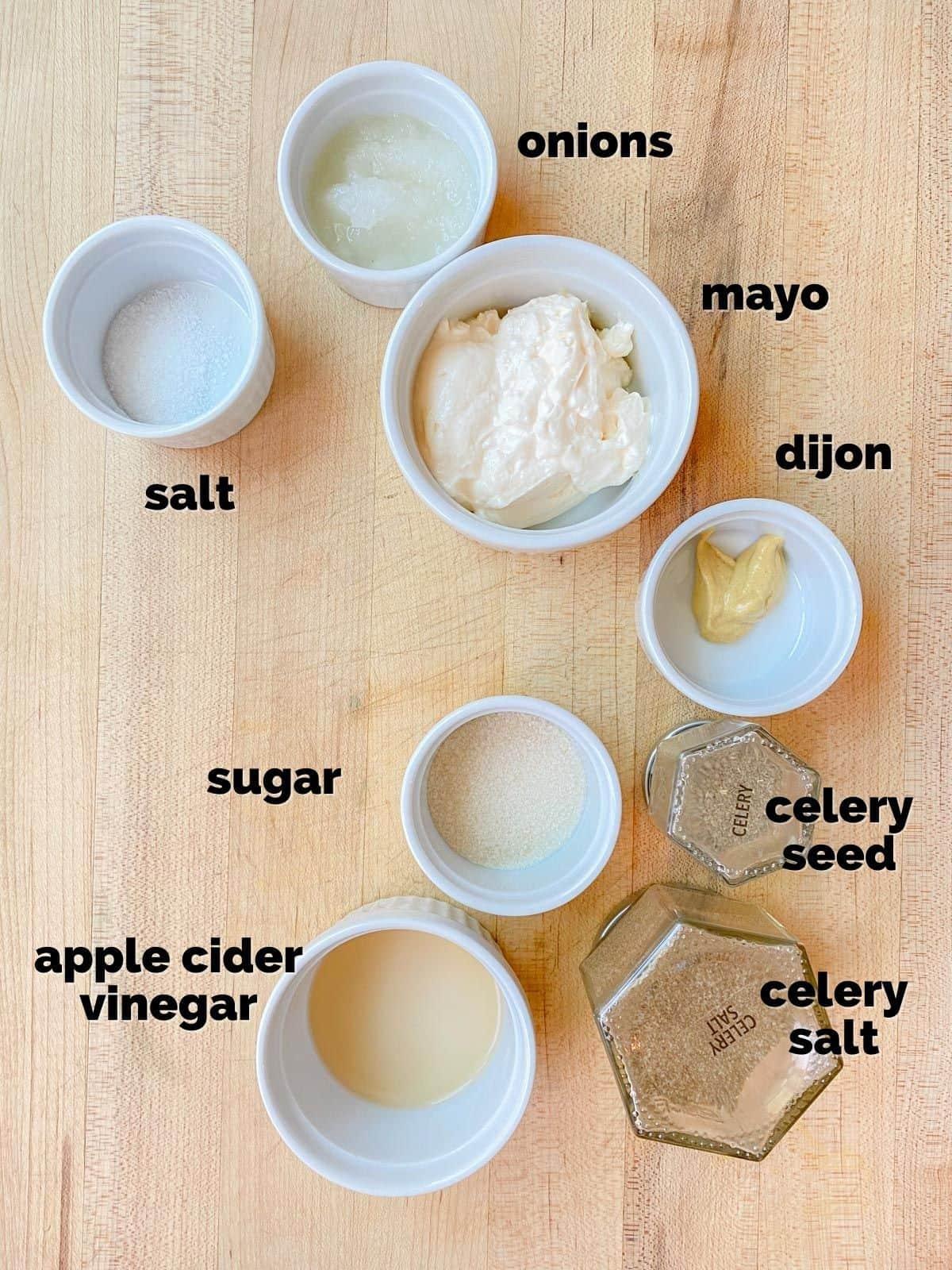 ingredients for coleslaw dressing