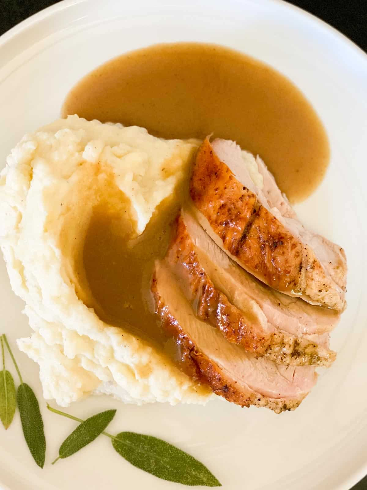Turkey and homemade turkey gravy
